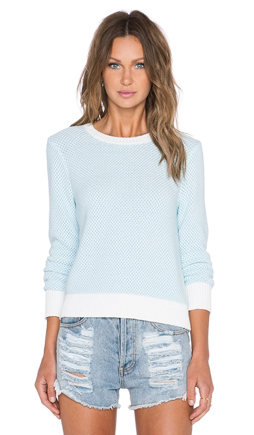 Equipment Shirley Sweater in Dusty Blue & Ivory