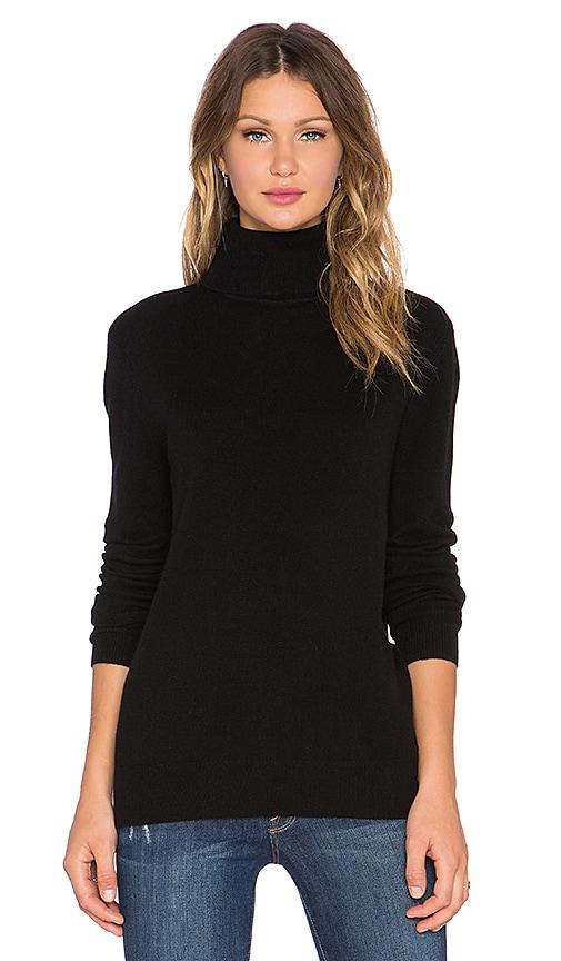 Equipment Oscar Turtleneck Cashmere Sweater in Black