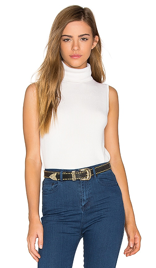 Equipment Bette Sleeveless Sweater in White