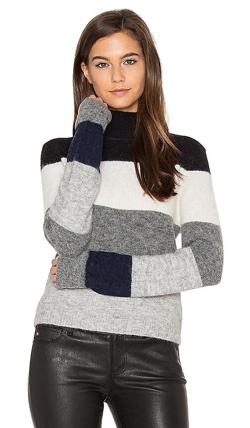 Equipment Ren Striped Sweater in Gray