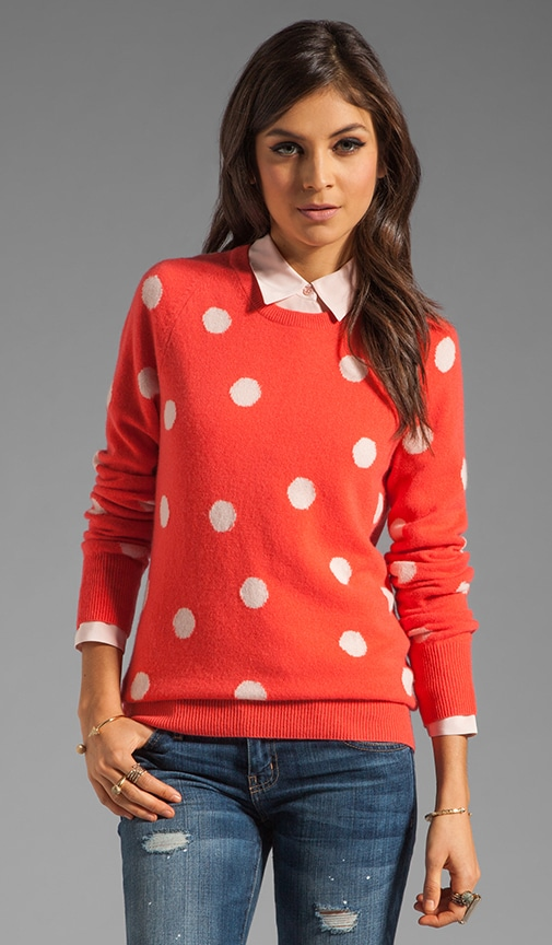 Sloane Classic Dots Crew Neck Sweater