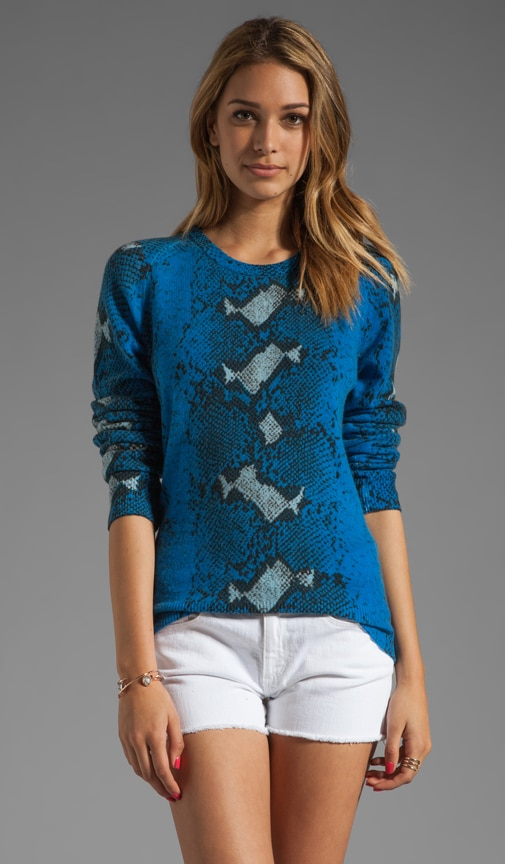Sloane Diamondback Python Crew Neck Sweater