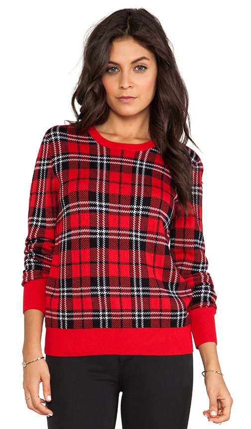 Shane Scholarly Plaid Crewneck Sweater