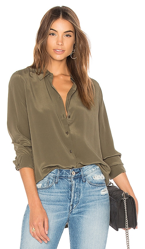 a84bb449a1 Equipment Essential Button Up in Herbal Green