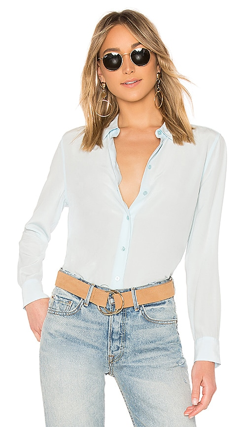 Equipment Essential Top in Baby Blue