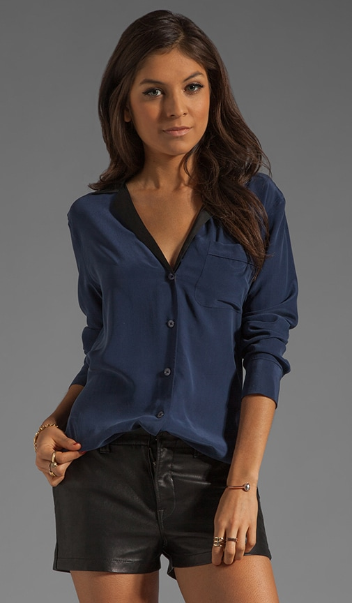 Keira with Contrast Lapel Blouse