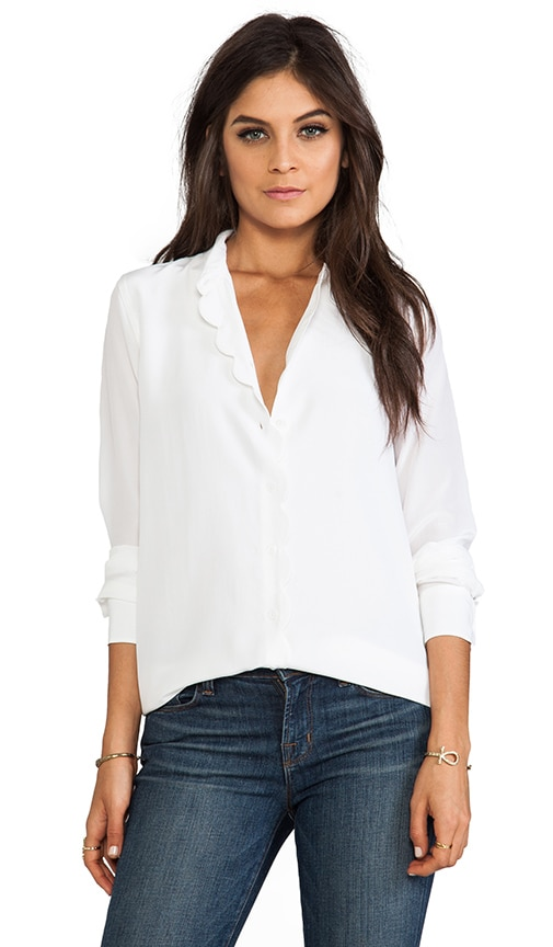 Brett Clean with Scallop Blouse