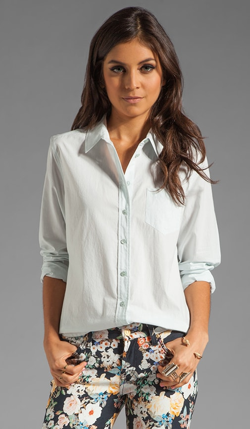 Brett Washed Cotton Poplin Blouse