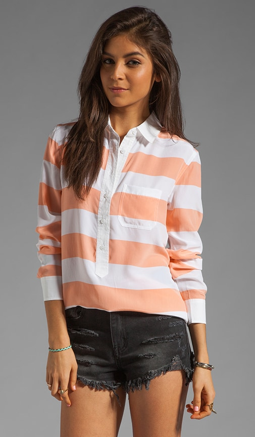 Capri with Contrast Blouse