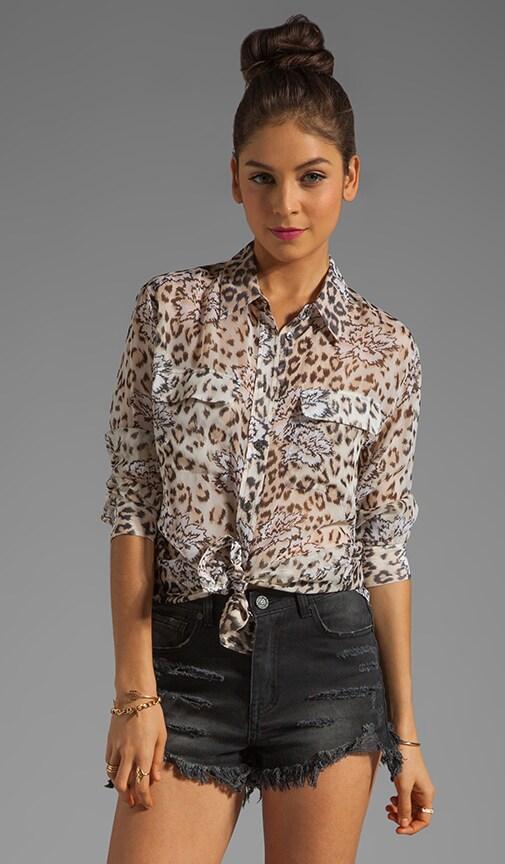 Signature Floral Leopard Blouse