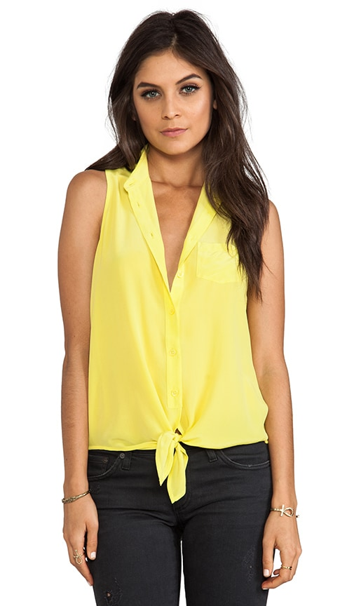 Mina Sleeveless Tie Front Blouse