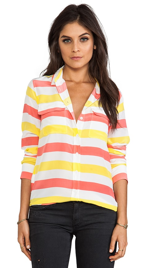 Cabana Stripe Slim Signature Blouse