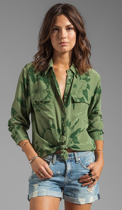 Tropical Floral Signature Blouse