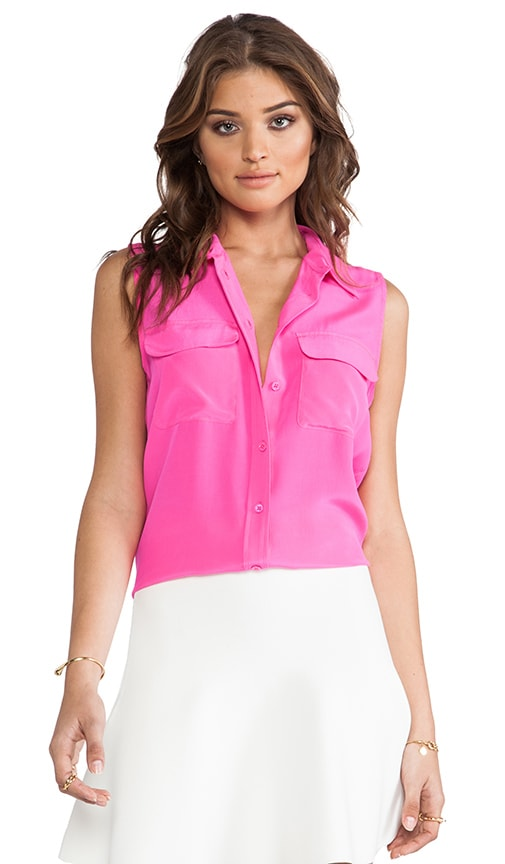 Slim Sleeveless Signature Blouse
