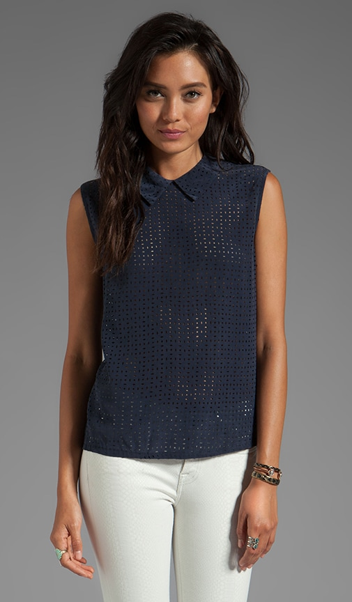 Laser Cut Elliott Sleeveless Top