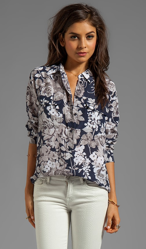 Countryside Floral Printed Signature Blouse