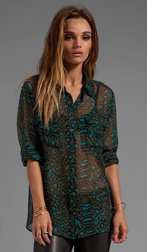 Distressed Hyde Printed Signature Blouse