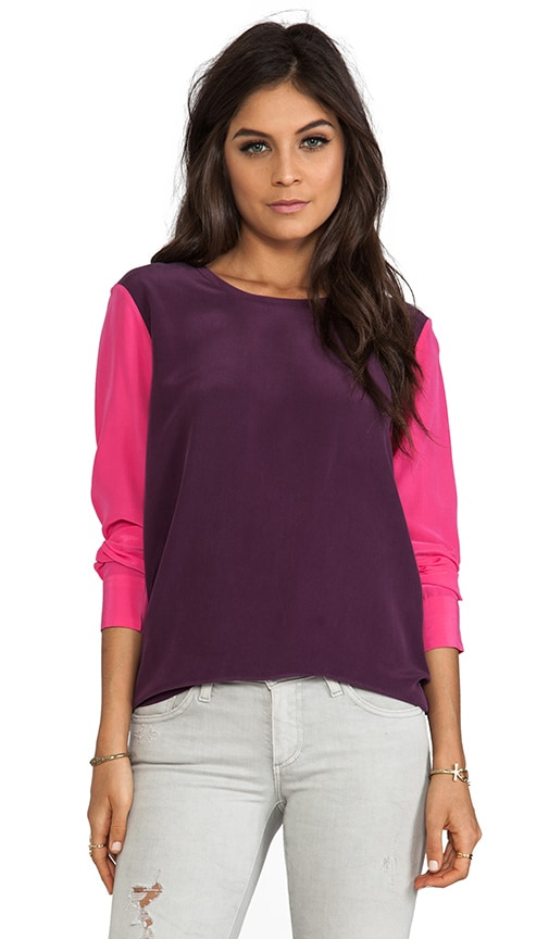 Colorblock Liam Blouse with Contrast Sleeves