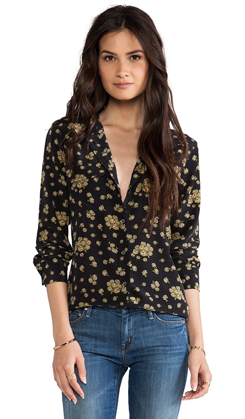 Blooming Fields Printed Slim Signature Blouse