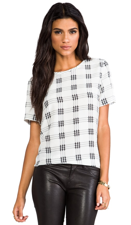 Riley Houndstooth Check Blouse