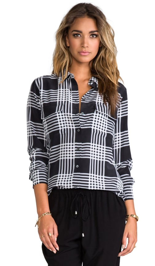 Slim Signature Ghost Plaid Blouse