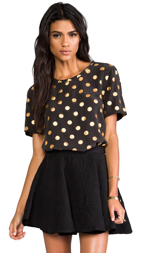Riley Modern Dot Foil Blouse