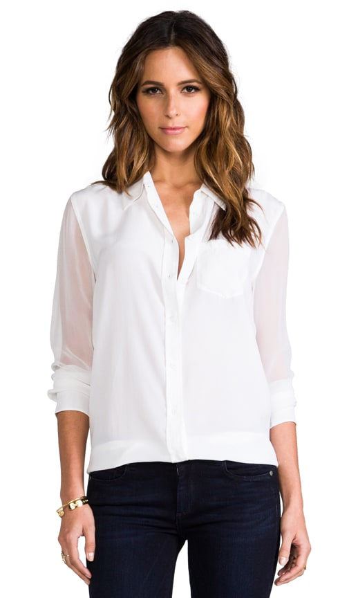 Reese Blouse w/ Contrast Sleeve