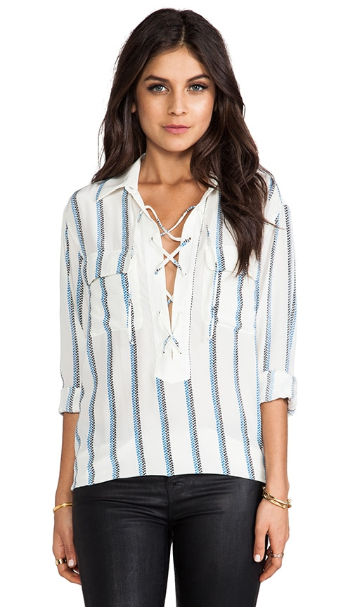 Knox Experimental Stripe Blouse