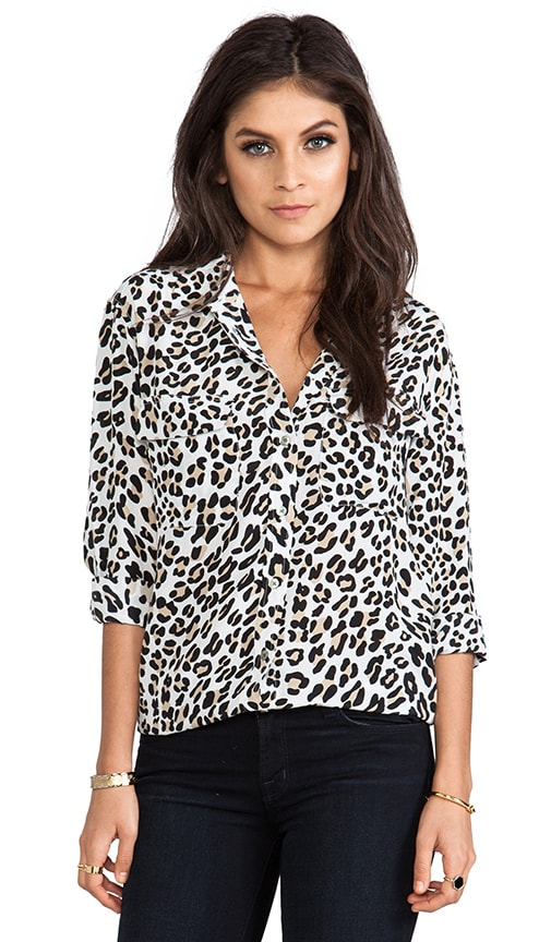 Signature Modern Leopard Printed Blouse