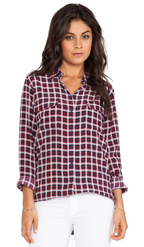 Slim Signature Pragmatic Plaid Blouse