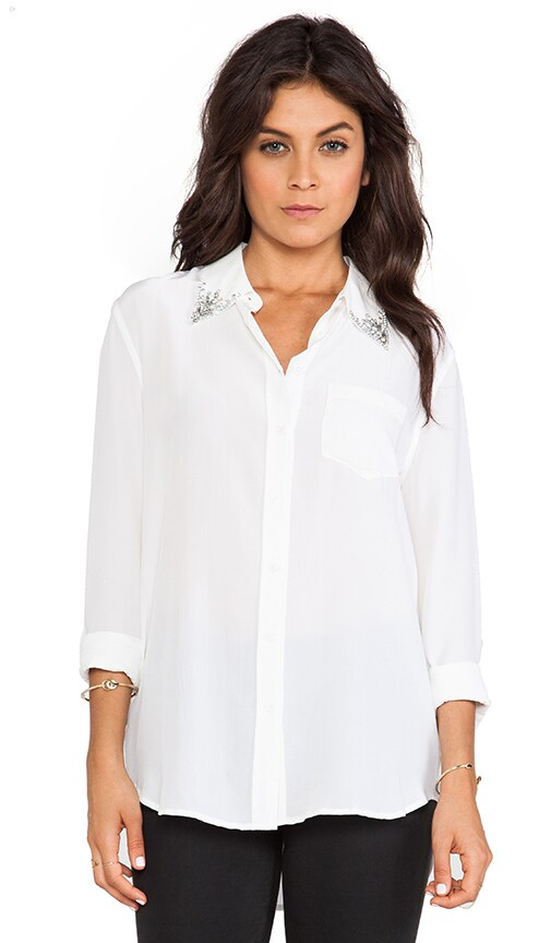 Reese Jewel Collar Blouse