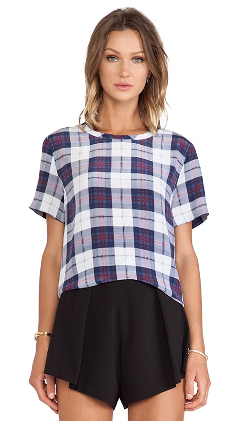 Riley Audacious Plaid Printed Tee