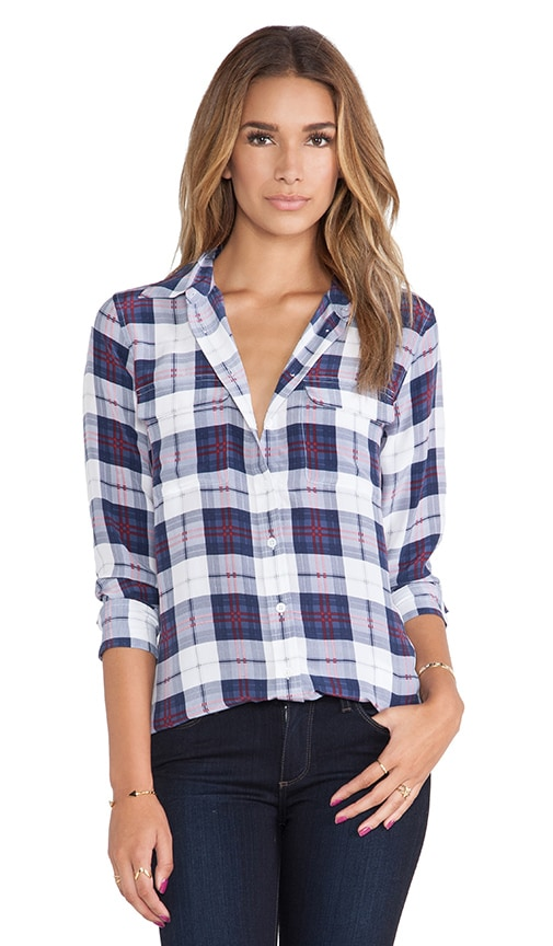 Slim Signature Audacious Plaid Printed Blouse