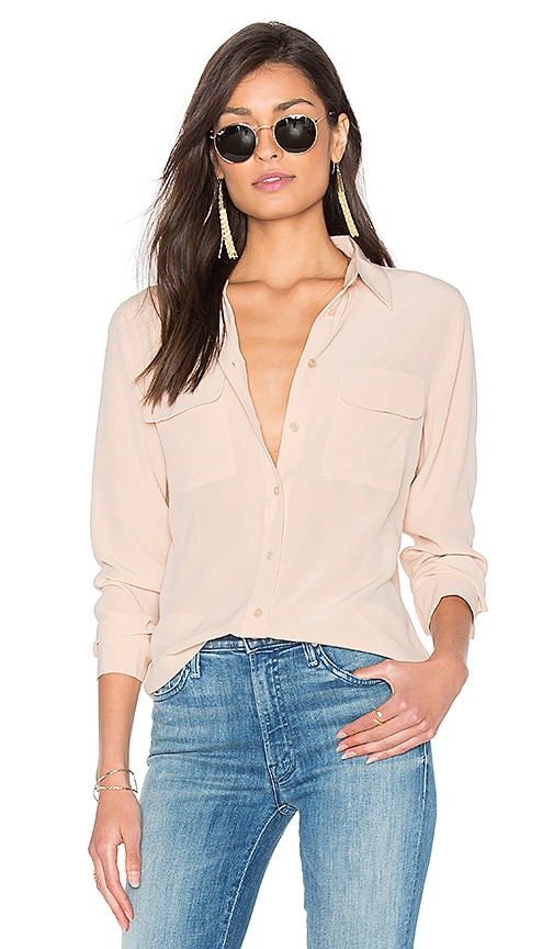 Equipment Slim Signature Blouse in Nude