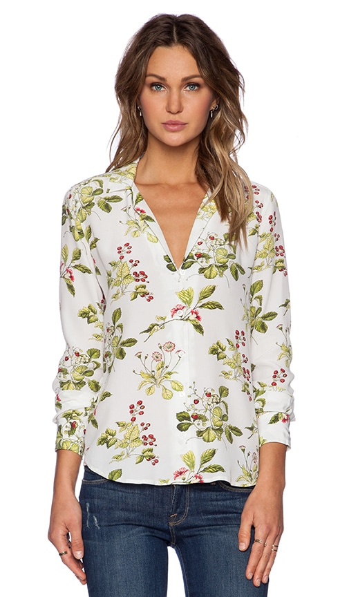 400a6319c6a13 Equipment Adalyn Blooming Sprig Blouse in Bright White Multi