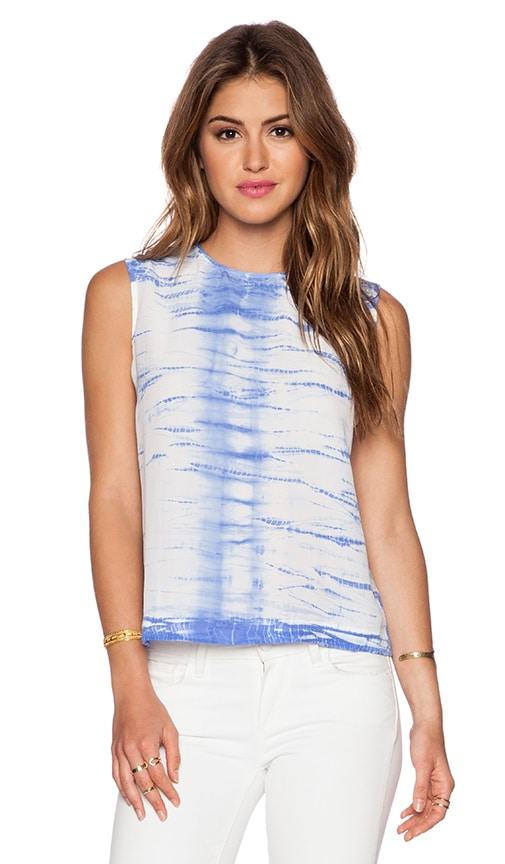 Equipment Reagan Linear Tie Dye Tank in Amparo Blue