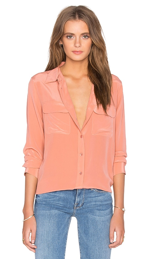 Equipment Slim Signature Blouse in Desert Sand