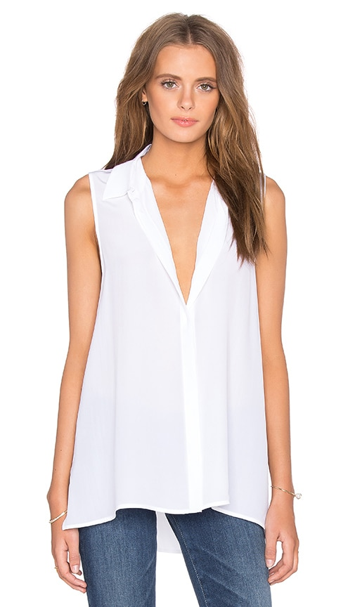 Equipment Milla Sleeveless Blouse in Bright White