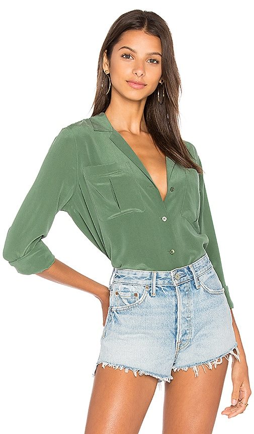 Equipment Sonny PJ Top in Green