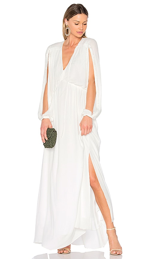 Erin Fetherston Lotus Queen Maxi Dress in White