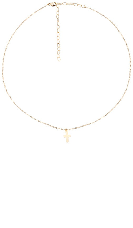 ERTH Cross Necklace in Metallic Gold