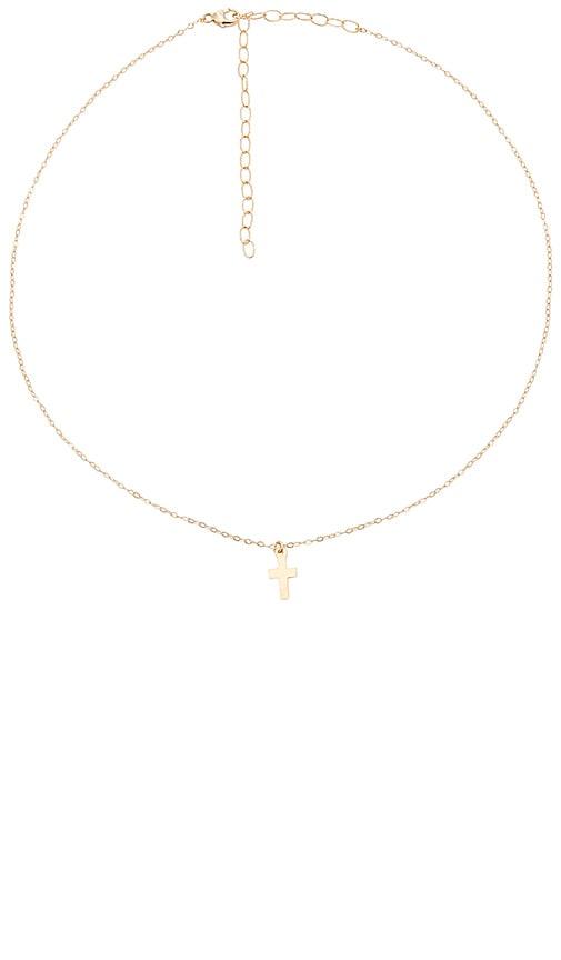 ERTH Cross Necklace in Metallic Gold