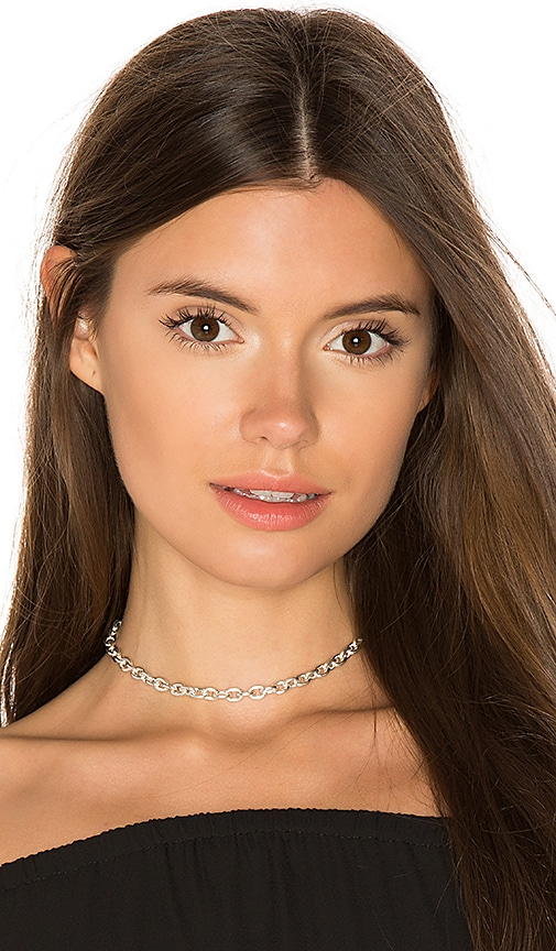 ERTH Bella Choker in Metallic Silver