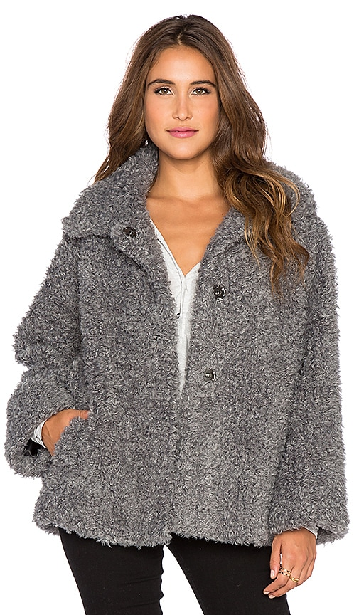Essentiel Antwerp Fake It Happen Coat in Grey