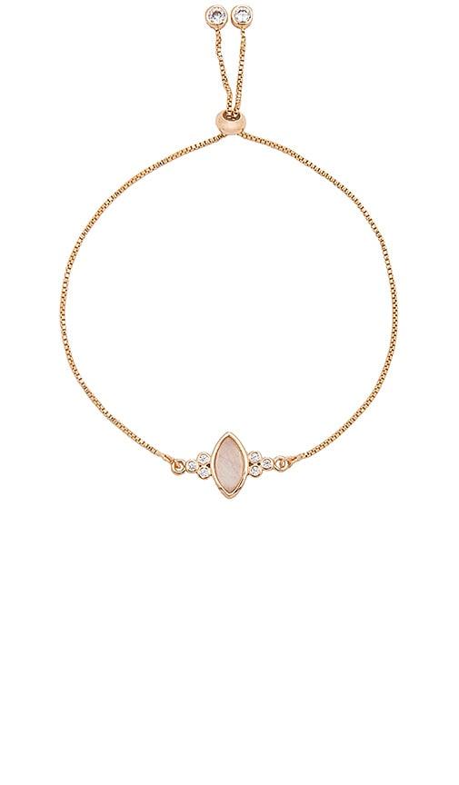 Elizabeth Stone Gemstone Eye Slide Bracelet in Metallic Gold