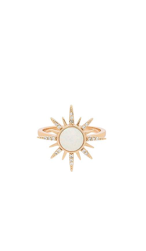 Elizabeth Stone Gemstone Starburst Ring in Metallic Gold