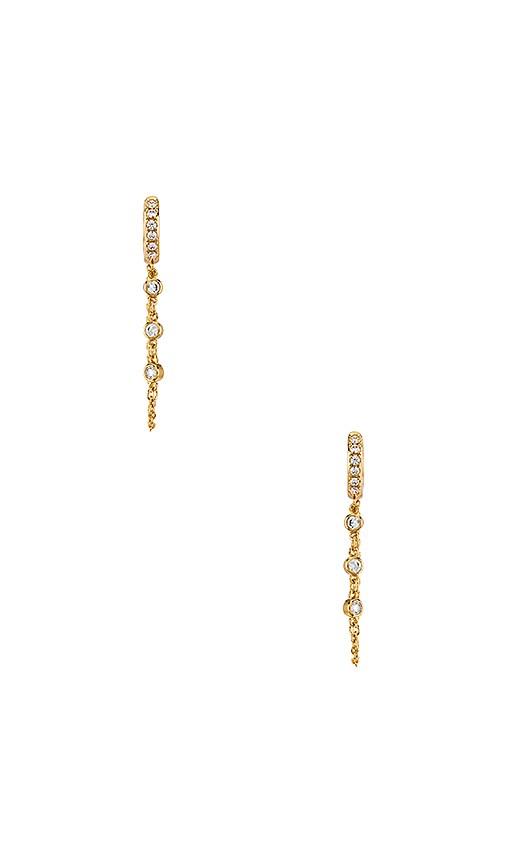 Pave Chain Huggie Earrings
