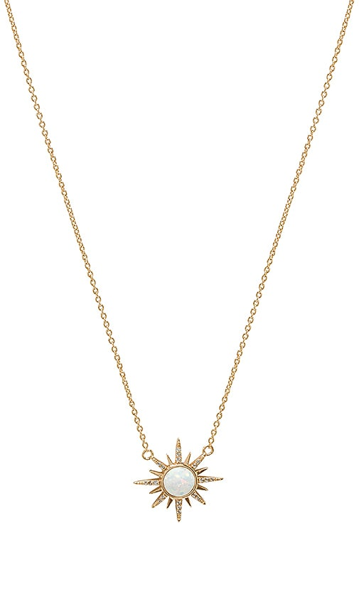 Enamel CZ Bar Necklace in Metallic Gold Elizabeth Stone DpmK2l