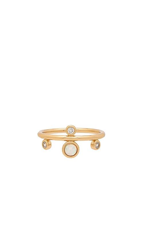 Elizabeth Stone Dotted Gem Ring in Metallic Gold
