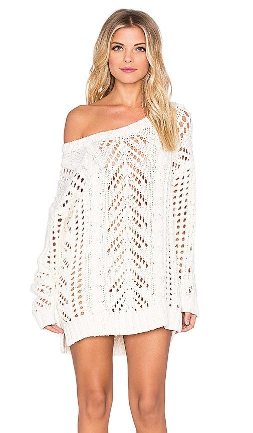 Eternal Sunshine Creations Stella Loose Sweater Dress in Ivory